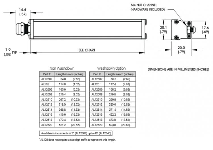AL126_MechSpec_Ai Advanced Illumination Lighting