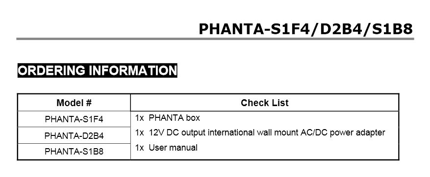 Order Info PHANTA