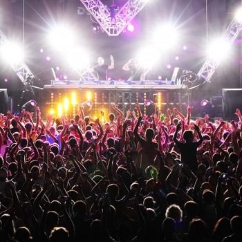 MINSK, BELARUS - JULY 6: Global Gathering Festival crowd at Boro