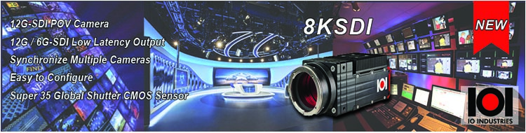 IO Industries 8KSDI camera banner